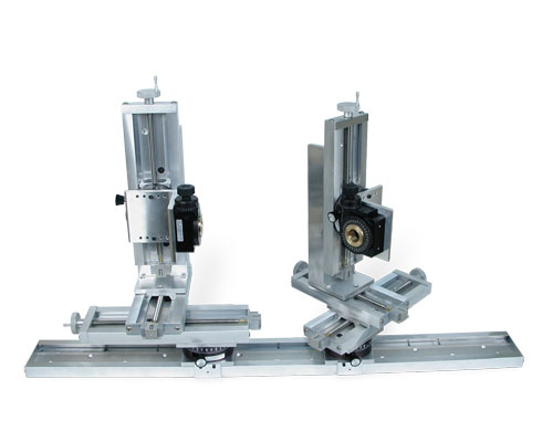 Dual XYZ UniSlide systems with Rotary Tables