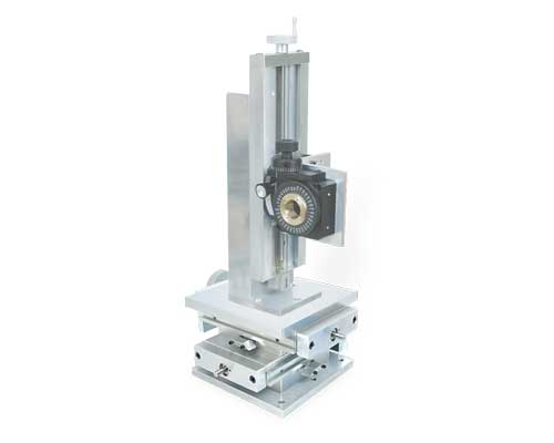 Z-Axis Unislide on XY Table supporting a Rotary Table