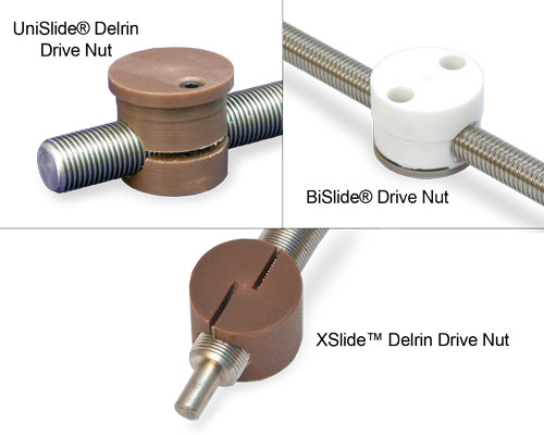 Drive nuts used on Velmex products