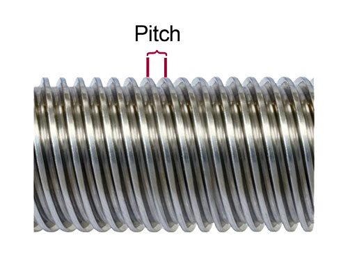 Ptich on lead screw