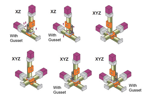 Multi-Axes XSlide Configurations