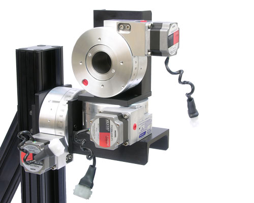 Pan and Tilt Rotary System with Steppers