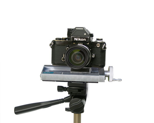 A camera mounted on a UniSlide
