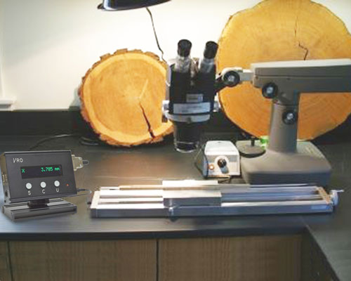 UniSlide TA System in tree ring lab
