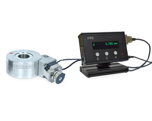 VRO with rotary encoder and rotary table