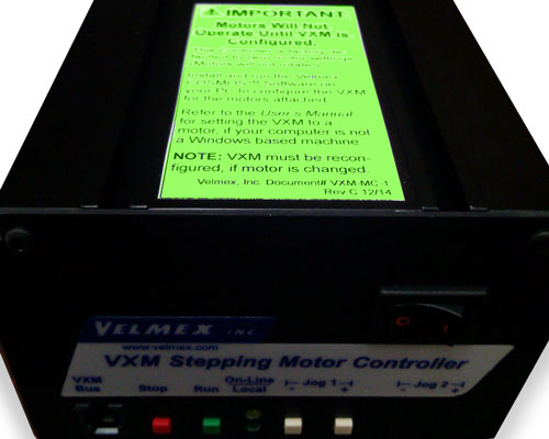 Reconfiguration Label for VXM Controller